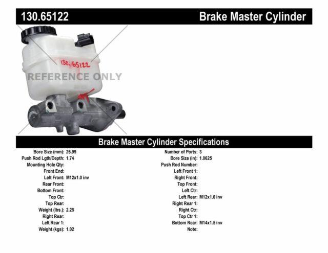 Brake Master Cylinder-Premium Master Cylinder - Preferred Centric 130.65122