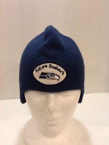 0adead70c50928 NFL Seattle Seahawks beanie w/ ear flaps fleece Lined Hat Cap | eBay