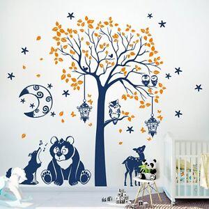 adesivi muro  00755 Wall Stickers Sticker Adesivi Muro Murali La Foresta dei sogni ...
