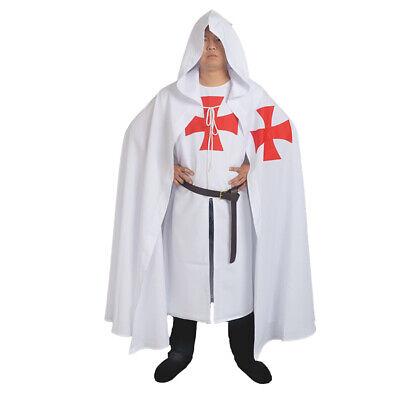 Medieval Teutonic Knight  Crusade Tunic Cloak Cape Belt Robe Costume SCA Larp