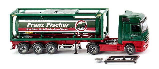 Wiking 53603 h0 camions tankcontainer semi-remorque 30 MERCEDES ACTROS Franz Fischer sped