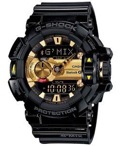 Casio-G-Shock-G-039-MIX-Bluetooth-Analogue-Digital-Mens-Black-Gold-Watch-GBA-400-1A9