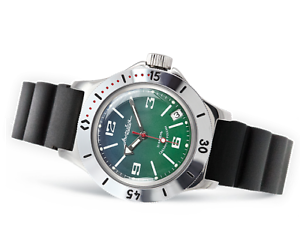 RUSSIAN  VOSTOK AUTO AMPHIBIAN WATCH  FOR DIVING 120848 NEW