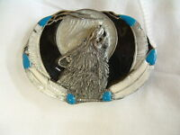 Siskiyou Gifts Pewter Howling Wolf Belt Buckle Siss-7d