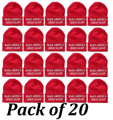 Make America Great Again Winter Warm Knit Trump MAGA Beanie 2-Pack in Red