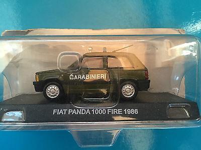 "DIE CAST /"" FIAT PANDA 1000 FIRE 1986 /"" SCALA 1//43 CARABINIERI"