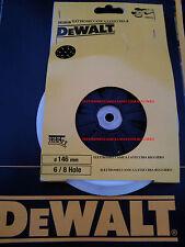 PLATORELLO 150mm DEWALT DE2639-XJ PER LEVIGATRICE D26410 PIATTO VELCRO 6&8 FORI