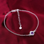 miniature 58 - 925 Sterling Silver Plated Anklet Ankle Bracelet Crystal Foot Chain Ladies CZ UK
