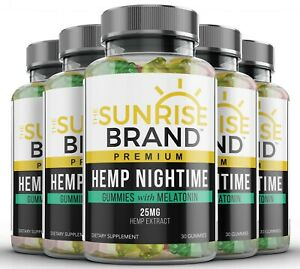 Nightime Gummies for Stress Relief - Great for Pain, Insomnia & Anxiety - 5 pack