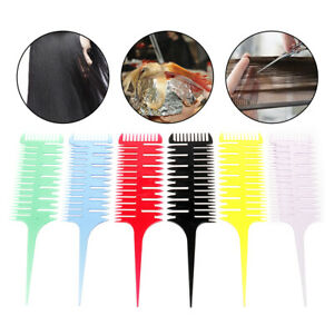 3-Way-Sectioning-Highlight-Comb-Weave-Weaving-Comb-Hair-Dye-Styling-Salon-To-T