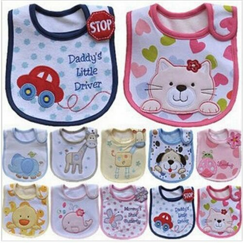 Baby Waterproof Saliva Towel Cotton Fit Cartoon Pattern Toddler 0-3 Years Burp C