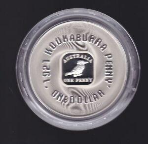 2008-1-Australia-One-Penny-1921-Kookaburra-Square-Penny-Silver-Proof-Coin