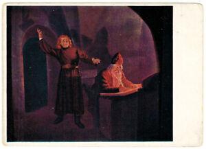 1936-RARE-Russian-postcard-Opera-BORIS-GODUNOV-Cell-in-Monastery-F-Fedorovsky