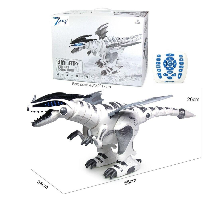 Enorme gree robot intelligente Dinosauro giocattolo che cammina REAL suono Luci Lampeggianti UK