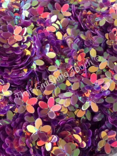 Flower Sequins Amethyst Purple AB Mix Hi Shine 10mm Cup x 100