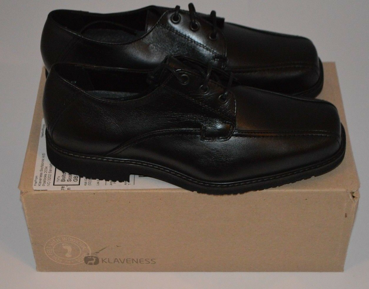 KLAVENESS DESIGNER Damenschuhe BLACK LACE UP Schuhe SIZE UK 5 EU 38 NARROW NEU BOXED