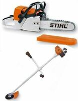 Battery Operated Childrens Stihl Chainsaw & Brushcutter Combo