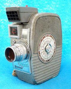 Details about VTG 8mm Keystone Wind Up Movie Camera w light Meter Model K25  Capri CGC