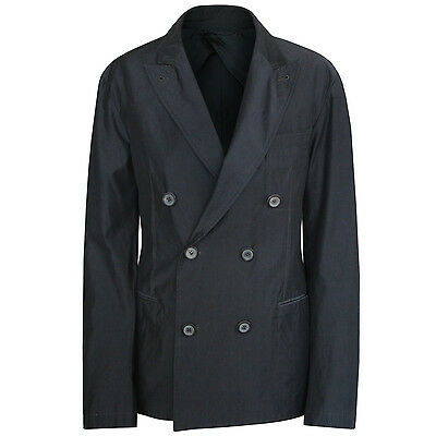 LANVIN double breasted slim fitted jacket unstructured peak lapel blazer 36/46