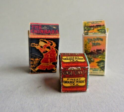 DOLLHOUSE MINIATURE ~ ASIAN TEA BOX SET ~  LORRAINE SCUDERI