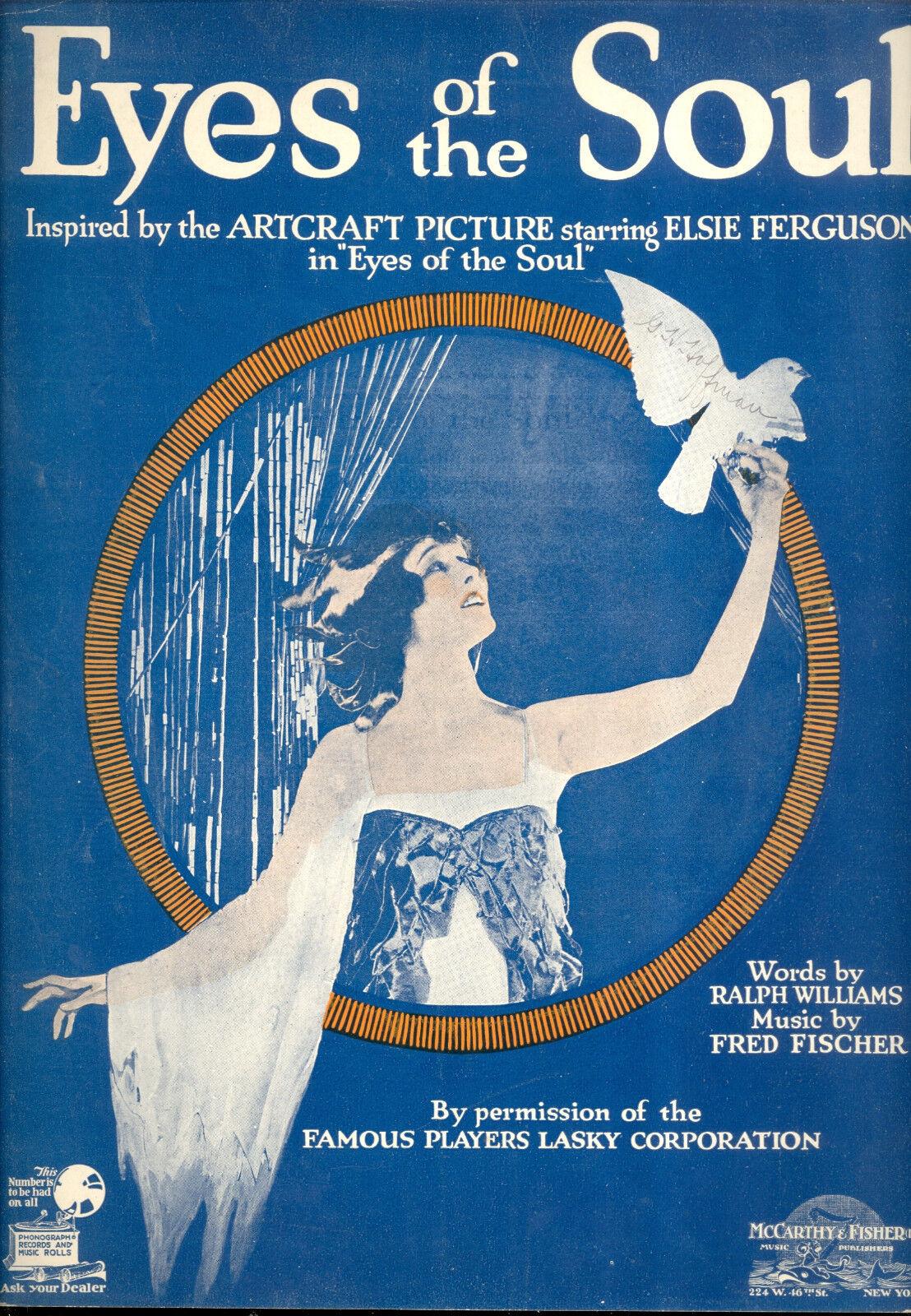 EYES OF THE SOUL Sheet Music  Eyes Of The Soul  Elsie Ferguson