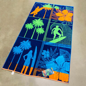 Surf-Palm-Trees-Tropical-Floral-Ocean-Beach-Towel-40-034-x-72-034-by-Resort-Living