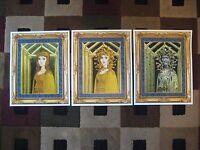 Vintage Disney (mansion Medusa Paintings) Collector's Poster Prints ( Set Of 3 )