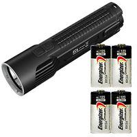 Nitecore Ec4 Die-cast Xm-l2 U2 Led Flashlight W/ 4x Energizer Cr123a Batteries