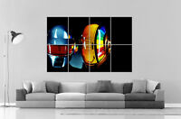 Daft Punk Color Dj Wall Art Poster Grand Format A0 Large Print
