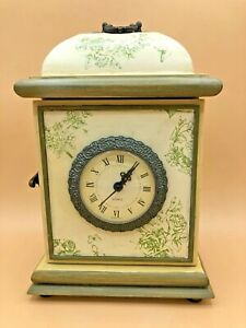 Vintage-Von-Pok-And-Chang-Mantel-Clock-With-Hidden-Compartment