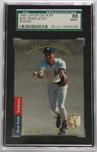 Details About 1993 Upper Deck Sp 279 Derek Jeter Sgc 88 Nm Mt Yankees Rc Rookie Card Graded 8