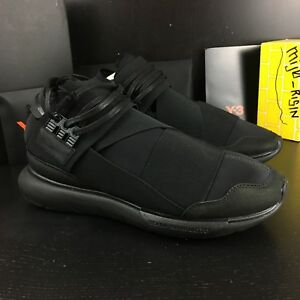 4cdebdcc59a2 Details about New Adidas Y-3 Qasa High Black Triple Black Size 8.5