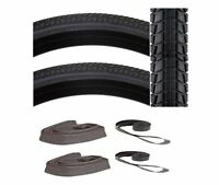700x40 Tires Pak 2 + Presta Tubes + Rimstrips Kenda Komfort Road Path Hybrid 29r