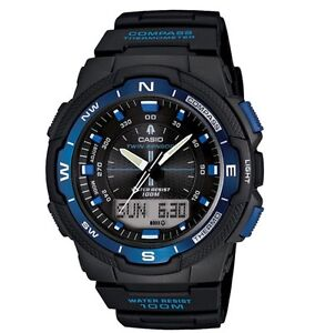 Casio-Watch-SGW500H-2B-Twin-Sensor-Digital-Compass-Black-amp-Blue-COD-PayPal