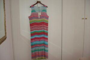 pastelkleuren Zomer Maxi Maat tropische jurk Oost Mouwloze plooien Groot Vk FK1TJcl