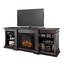 Real Flame Fresno Dark Walnut 71.73 in. L x 18.98 in. D x 29.8 in. H Entertainme
