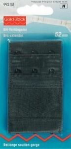 Women's Clothing Friendly Prym Bh Extensions 2 1/16in Wide Black 992151 Quality And Quantity Assured