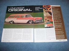 "1958 Chevy Nomad Station Wagon RestoMod Article ""Longroof Original"" Bel Air"