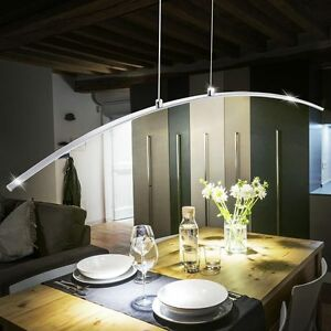 Luxus-LED-Arc-Suspension-Salon-Plafonnier-Eclairage-suspendus-Chrome-Longueur-91