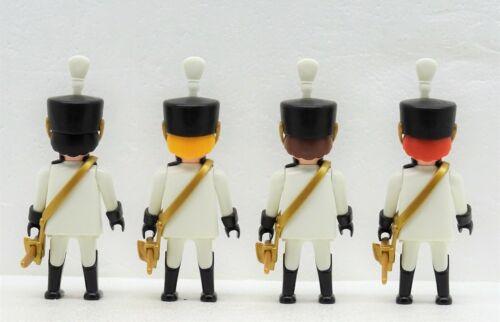 4 x GARDE HUSAR SOLDAT OFFIZIER Playmobil zu Handschuhe Rabatte Hussard Napoleon