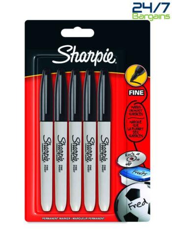 SHARPIE FINE POINT PERMANENT MARKER BLACK PACK OF 5