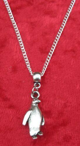 "18/"" 24/"" Inch Chain Necklace /& Penguin Pendant Charm Animal Lovers Gift Souvenir"