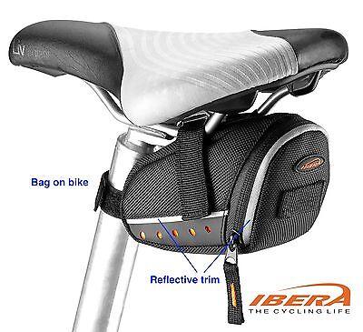 Bike Seat Bag Bicycle Saddle Pouch Rear Storage Taillight Hanger IBERA IB-SB13S