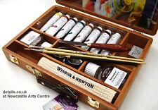Winsor & Newton pintura al óleo Caja De Regalo Completo Con Pinturas & Pinceles RRP £ 99.99