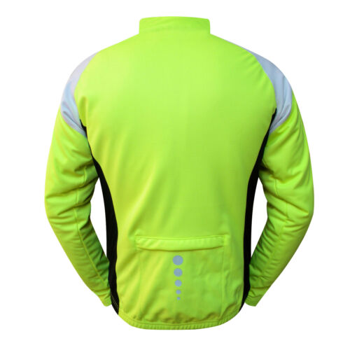 Mens Winter Cycling Jacket Windproof Cycle Thermal Jacket Jersey Full Sleeves