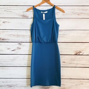Susan-Monaco-Teal-Blouson-Bodycon-Tank-Dress-Small-New-With-Tags