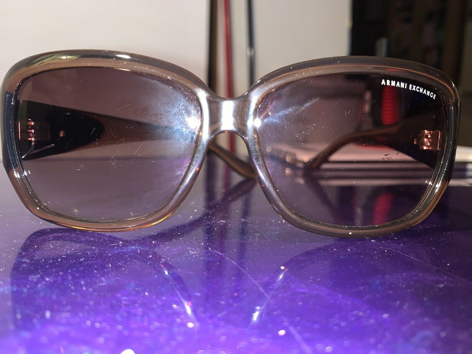 Armani Exchange Sunglasses Missing One Screw Used Condition 6 From 10