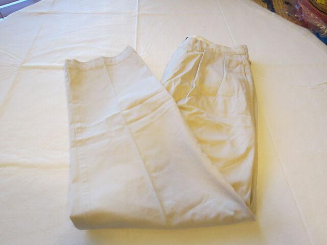 Mens Polo by Ralph Lauren Andrew Pant 35 X 30 pants slacks eggshell cotton EUC @