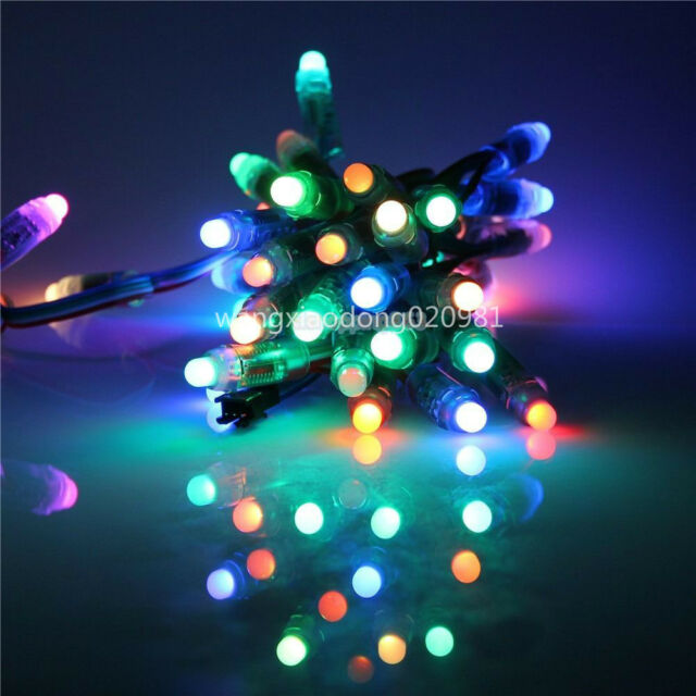 100pc full Color Digital Diffused RGB LED Pixel WS2811 12mm 12V Waterproof IP68