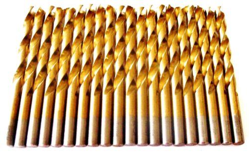 """20 HITACHI TITANIUM 11//32/"""" HIGH SPEED STEEL DRILL BITS METAL GOLD HSS"""